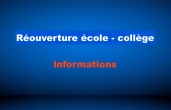 Informations réouverture - Inscriptions